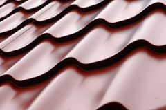 Waved roof. Waved purple roof detailed view Royalty Free Stock Image