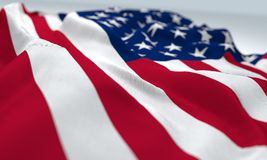 Waved united States of America flag Royalty Free Stock Photo