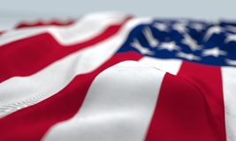 Waved united States of America flag Royalty Free Stock Image