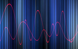 Waveform 15. This is a waveform graphic Stock Photos
