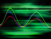 Waveform 19. This is a color Waveform Royalty Free Stock Photography