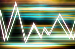 Waveform 7. This is a color Waveform Royalty Free Stock Photography