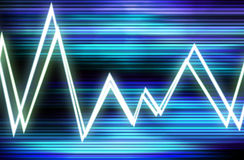 Waveform 8. This is a waveform graphic Stock Images