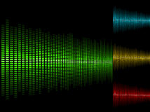 Waveform background. Abstract waveform vector background in four color schemes Stock Photography
