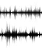Waveform background. Black and white halftone vector sound waves Royalty Free Stock Photography