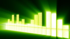 Waveform beat render. Showing music vector illustration