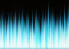 Waveform blue lights with copy space Stock Images