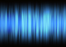Waveform blue lights with copy space. Motion blur effect Royalty Free Stock Image