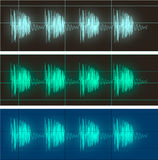 Waveform display of electric signals Royalty Free Stock Photos