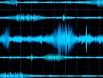 waveform för bakgrundsmusik Arkivfoton