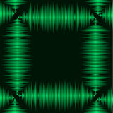 Waveform frame. Industrial styled green rectangular waveform shaped frame Royalty Free Stock Photography