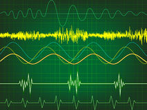 Waveform in green background