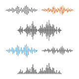 Waveform Shape. Soundwave. Audio Wave Graph Set. Vector Stock Image