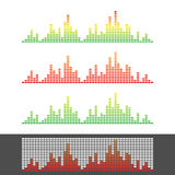 Waveform Shape. Soundwave. Audio Wave Graph Set. Vector Stock Images