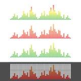 Waveform Shape. Soundwave. Audio Wave Graph Set. Vector.  Stock Images
