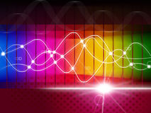Waveform Spectrum Represents Color Guide And Abstract Royalty Free Stock Images
