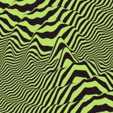 Waveform tło Dynamiczny wizualny skutek Nawierzchniowy wykoślawienie Wzór z okulistycznym złudzeniem Zdjęcie Stock