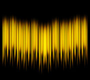 Waveform. Vector illustration for club, radio, party, concerts or the audio technology advertising Stock Photography