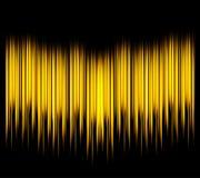 waveform Vektorillustration för klubba, radio, parti, konserter eller den ljudsignal teknologiadvertizingen Arkivbild