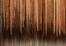 Waveform wood. Old weathered wood of a garden gate Royalty Free Stock Photography