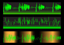Waveforms. Set. Vector. Royalty Free Stock Photo