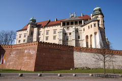 Wavel Castle. In a city of Krakow, Poland royalty free stock images