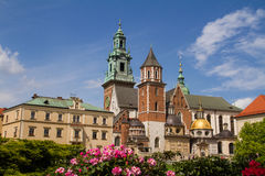 Wavel Castle and Cathedral of St. Wenceslas and Stanislaus Royalty Free Stock Photography