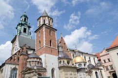 Wavel Castle and Cathedral of St. Wenceslas and Stanislaus Royalty Free Stock Photo