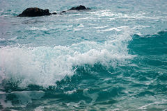 Wavelet. Wave in the Adriatic Sea (Montenegro Royalty Free Stock Photo