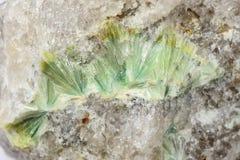 Wavellite в кварце вены Стоковые Изображения RF
