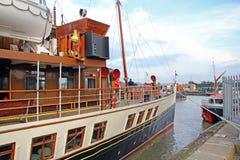 Waverley明轮船小船 库存图片