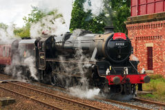 The Waverley. Preserved Stanier Class Black Five steam locomotive number 44932 pictured in Appleby, England on August 26, 2012, on the Settle to Carlisle railway royalty free stock photo
