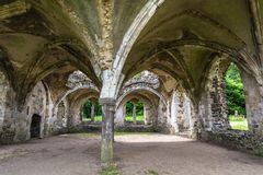 Waverley Abbey Ruins Royalty Free Stock Photography