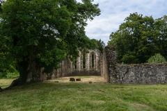 Ruins at Waverley Abbey Stock Photography