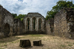 Ruins at Waverley Abbey Royalty Free Stock Images