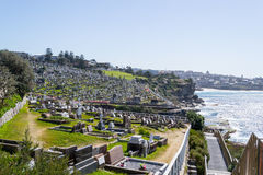 Waverley Cemetery in Sydney royalty free stock photography