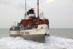 Waverley paddle steamer arriving at port. Photo of the famous historic waverley paddle steamer arriving at whitstable port on 27th sept 2013.photo ideal for Stock Photography