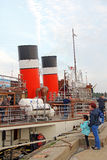Waverley paddle steamer passengers Royalty Free Stock Photos