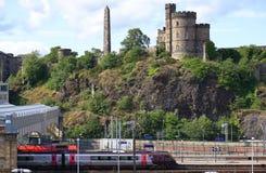 Waverley stacja kolejowa, Edynburg, Szkocja Obrazy Royalty Free