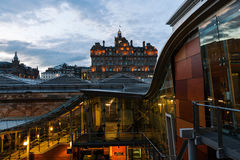 Waverly Station with Hotel Balmoral in Edinburgh royalty free stock photos