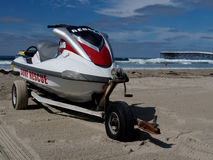 Waverunner on san diego beach Stock Photo