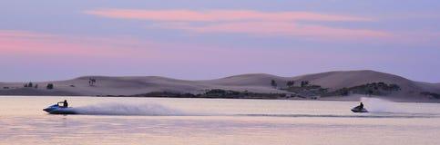 Waverunners na Silver Lake Zdjęcie Royalty Free