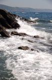 Waves. In Cornwall royalty free stock photography