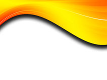 Waves. Yellow wave over white  background. abstract illustration Royalty Free Stock Photos