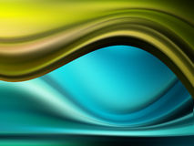 Waves. Blue and green  waves with shadows. abstract illustration Stock Photos