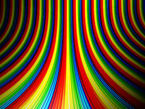 Waves. Green yellow red and blue background. Colors illustration Stock Photography
