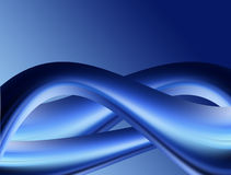 Waves. Blue waves abstract background. Dynamic illustration Royalty Free Stock Images