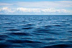 Waves. On the Lake Ladoga, Russia Stock Image