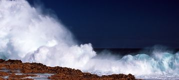 Waves. Blow holes in west- australia royalty free stock photography