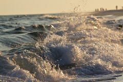 Waves. Sunset on the beach of Destin, Florida royalty free stock images